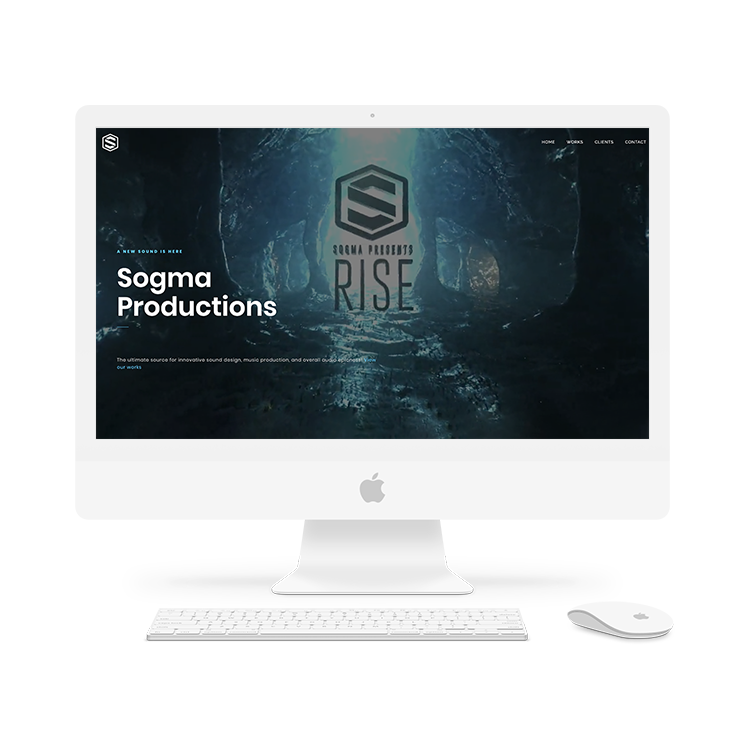The Sogma Productions homepage.